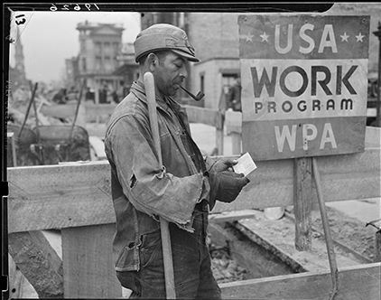 Worker Receiving Paycheck_1939_slideshow